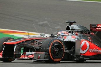 World © Octane Photographic Ltd. F1 Belgian GP - Spa-Francorchamps, Saturday 24th August 2013 - Practice 3. Vodafone McLaren Mercedes MP4/28 - Jenson Button. Digital Ref : 0792lw1d8870