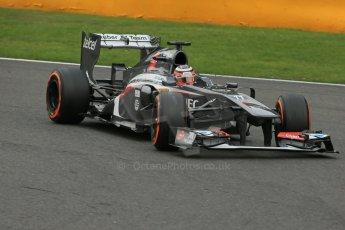World © Octane Photographic Ltd. F1 Belgian GP - Spa-Francorchamps, Saturday 24th August 2013 - Practice 3. Sauber C32 - Nico Hulkenberg. Digital Ref : 0792lw1d8946