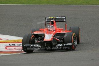 World © Octane Photographic Ltd. F1 Belgian GP - Spa-Francorchamps, Saturday 24th August 2013 - Practice 3. Marussia F1 Team MR02 - Max Chilton. Digital Ref : 0792lw1d8953
