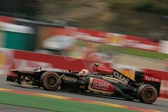 World © Octane Photographic Ltd. F1 Belgian GP - Spa-Francorchamps, Saturday 24th August 2013 - Practice 3. Lotus F1 Team E21 - Romain Grosjean. Digital Ref : 0792lw1d9046