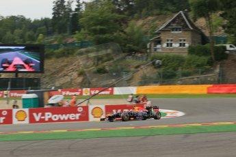 World © Octane Photographic Ltd. F1 Belgian GP - Spa-Francorchamps, Saturday 24th August 2013 - Practice 3. Infiniti Red Bull Racing RB9 - Mark Webber. Digital Ref : 0792lw1d9086