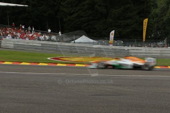 World © Octane Photographic Ltd. F1 Belgian GP - Spa-Francorchamps, Saturday 24th August 2013 - Qualifying. Sahara Force India VJM06 - Paul di Resta. Digital Ref : 0793lw1d5585
