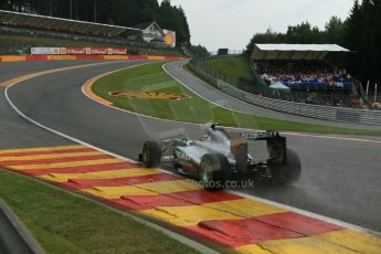 World © Octane Photographic Ltd. F1 Belgian GP - Spa-Francorchamps, Saturday 24th August 2013 - Qualifying. Mercedes AMG Petronas F1 W04 – Lewis Hamilton. Digital Ref : 0793lw1d9218