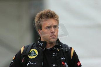 World © Octane Photographic Ltd. F1 Belgian GP - Spa-Francorchamps, Saturday 24th August 2013 - Paddock. Lotus F1 Team reserve driver - Davide Valsecchi. Digital Ref : 0791lw1d8389
