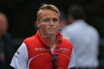 World © Octane Photographic Ltd. F1 Belgian GP - Spa-Francorchamps, Sunday 25th August 2013 - Paddock. Marussia F1 Team MR02 - Max Chilton. Digital Ref : 0795lw1d0140
