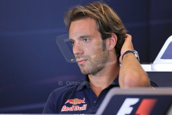 World © Octane Photographic Ltd. F1 Belgian GP - Spa - Francorchamps. Thursday 22nd August 2013. FIA Press Conference. Scuderia Toro Rosso STR8 - Jean-Eric Vergne. Digital Ref : 0782lw1d6944
