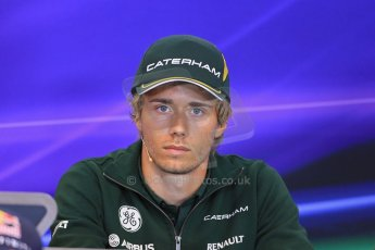 World © Octane Photographic Ltd. F1 Belgian GP - Spa - Francorchamps. Thursday 22nd August 2013. FIA Press Conference. Caterham F1 Team CT03 - Charles Pic. Digital Ref : 0782lw1d7105