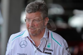 World © Octane Photographic Ltd. F1 Paddock, Belgian GP, Spa Francorchamps, Thursday 22nd August 2013. Ross Brawn - AMG Mercedes Petronas. Digital Ref :