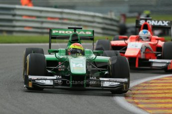 World © Octane Photographic Ltd. GP2 Belgian GP, Spa Francorchamps, Friday 23rd August 2013. Race 1. Sergio Canamasas – EQ8 Caterham Racing. Digital Ref: 0794lw1d9706