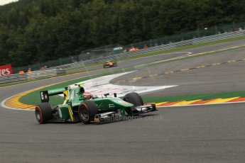 World © Octane Photographic Ltd. GP2 Belgian GP, Spa Francorchamps, Saturday 24th August 2013. Race 1. Alexander Rossi - EQ8 Caterham Racing. Digital Ref : 0794lw1dx9776