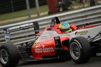World © Octane Photographic Ltd. British Formula 3 – Brands Hatch. Saturday 10th August 2013 – Qualifying. Felipe Lopes Guimaraes – Fortec Motorsport – Dallara F312 HWA Mercedes. Digital Ref : 0776cb1d3486