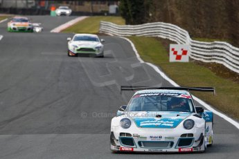 World © Octane Photographic Ltd./Chris Enion. Avon Tyres British GT Championship - Saturday 30th March 2013 Oulton Park – Practice 2. Porsche 997 GT3-R – Oman Air Motorbase – Michael Caine, Ahmad Al Harthy. Digital Ref : 0605ce1d4988
