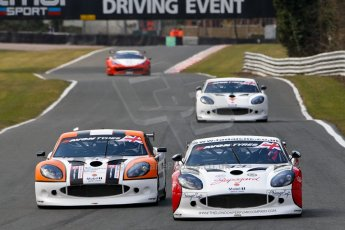World © Octane Photographic Ltd./Chris Enion. Avon Tyres British GT Championship - Saturday 30th March 2013 Oulton Park – Practice 2. Ginetta G50 – Century Motorsport – Declan Jones, Zoe Wenham and Ginetta G50 – Optimum Motorsport - Ryan Ratcliffe, Rick Parfitt Jr. Digital Ref :