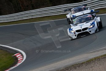 World © Octane Photographic Ltd./Chris Enion. Avon Tyres British GT Championship - Saturday 30th March 2013 Oulton Park – Practice 2. BMW Z4 GT3 – Ecurie Ecosse with Barwell Motorsport – Piers Johnson, Ron Johnson and BMW Z4 GT3 – Ecurie Ecosse – Oliver Bryant, Marco Attard. Digital Ref :
