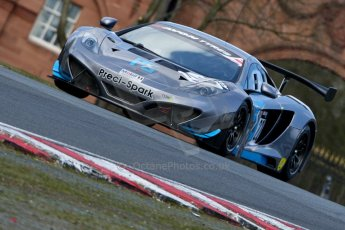World © Octane Photographic Ltd./Chris Enion. Avon Tyres British GT Championship - Saturday 30th March 2013 Oulton Park – Practice 2. McLaren MP4-12C GT3 – Preci-Spark Engineering – David Jones, Godfrey Jones. Digital Ref : 0605ce1d5402