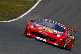 World © Octane Photographic Ltd./Chris Enion. Avon Tyres British GT Championship - Saturday 30th March 2013 Oulton Park – Practice 2. Ferrari 458 Italia – Rosso Verde – Hector Lester, Allan Simonsen. Digital Ref : 0605ce1d5583