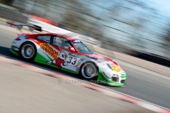World © Octane Photographic Ltd./Chris Enion. Avon Tyres British GT Championship - Saturday 30th March 2013 Oulton Park – Practice 1. Porsche 997 GT3-R – Trackspeed – Phil Keen, Jon Minshaw. Digital Ref : 0604ce1d4137