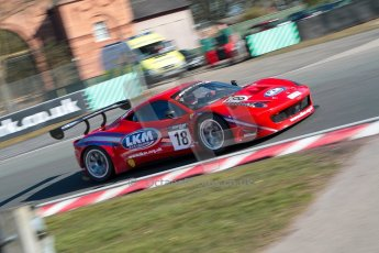 World © Octane Photographic Ltd./Chris Enion. Avon Tyres British GT Championship - Saturday 30th March 2013 Oulton Park – Practice 1. Ferrari 458 Italia, FF Corse – Rob Barff, Gary Eastwood. Digital Ref : 0604ce1d4216