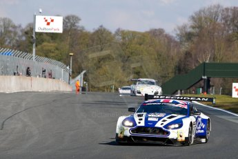 World © Octane Photographic Ltd./Chris Enion. Avon Tyres British GT Championship - Saturday 30th March 2013 Oulton Park – Practice 1. Aston Martin V12 Vantage GT3 – Beechdean Motorsport – Jonathan Adams, Andrew Howard. Digital Ref : 0604ce1d4921