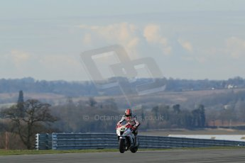 World © Octane Photographic Ltd. MCE Insurance British Superbike Championship (BSB) Test day – Donington Park, 14th March 2013. Rapid Solicitors Kawasaki. Digital Ref : 0588lw1d4392