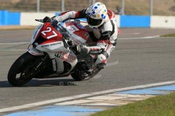 World © Octane Photographic Ltd. Pirelli National Superstock 1000 Championship Test day – Donington Park, 14th March 2013. Dan Stewart. Digital Ref : 0589lw1d4929