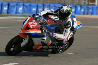 World © Octane Photographic Ltd. Pirelli National Superstock 1000 Championship Test day – Donington Park, 14th March 2013. Peter Ward. Digital Ref : 0589lw1d4985
