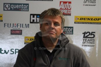 World © Octane Photographic Ltd. Thursday 21st March 2013. Dunlop MSA British Touring Car Championship (BTCC) Media Day – ITV Commentator and pundit Tom Harvey. Digital Ref : 0601cj7d0128