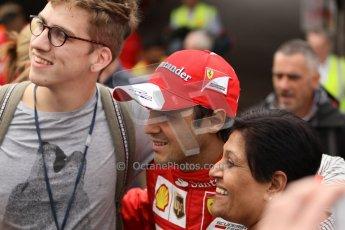 World © Octane Photographic Ltd. GP2 British GP, Silverstone, Thursday 27th June 2013. Felipe Massa - Scuderia Ferrari - Shell Towcester Pit Stop. Digital Ref : 0723lw1d9800