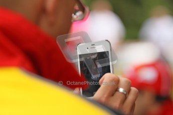 World © Octane Photographic Ltd. GP2 British GP, Silverstone, Thursday 27th June 2013. Felipe Massa - Scuderia Ferrari - Shell Towcester Pit Stop. Digital Ref : 0723lw1d9824
