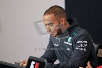 World © Octane Photographic Ltd. F1 British GP - Silverstone, Thrusday 27th June 2013. Mercedes AMG Petronas – Lewis Hamilton. Digital Ref : 0723lw7dx9899
