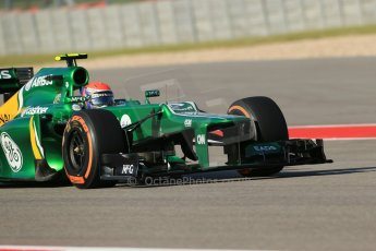 World © Octane Photographic Ltd. F1 USA GP - Austin, Texas, Circuit of the Americas (COTA), Friday 15th November 2013 - Practice 1. Caterham F1 Team CT03 – Alexander Rossi. Digital Ref : 0853lw1d2823