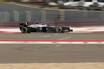 World © Octane Photographic Ltd. F1 USA GP, Austin, Texas, Circuit of the Americas (COTA), Friday 15th November 2013 - Practice 2. Williams FW35 - Valtteri Bottas. Digital Ref : 0854lw1d1747
