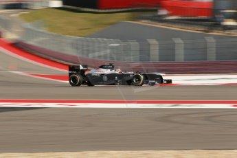World © Octane Photographic Ltd. F1 USA GP, Austin, Texas, Circuit of the Americas (COTA), Friday 15th November 2013 - Practice 2. Williams FW35 - Pastor Maldonado. Digital Ref : 0854lw1d1785
