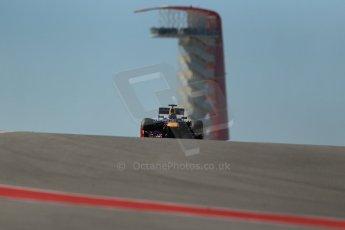 World © Octane Photographic Ltd. F1 USA GP, Austin, Texas, Circuit of the Americas (COTA), Friday 15th November 2013 - Practice 2. Infiniti Red Bull Racing RB9 - Sebastian Vettel. Digital Ref : 0854lw1d3955