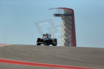 World © Octane Photographic Ltd. F1 USA GP, Austin, Texas, Circuit of the Americas (COTA), Friday 15th November 2013 - Practice 2. Sauber C32 - Esteban Gutierrez. Digital Ref : 0854lw1d4009