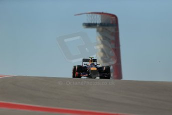 World © Octane Photographic Ltd. F1 USA GP, Austin, Texas, Circuit of the Americas (COTA), Friday 15th November 2013 - Practice 2. Infiniti Red Bull Racing RB9 - Mark Webber. Digital Ref : 0854lw1d4042