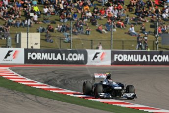 World © Octane Photographic Ltd. F1 USA GP, Austin, Texas, Circuit of the Americas (COTA), Friday 15th November 2013 - Practice 2. Williams FW35 - Valtteri Bottas. Digital Ref : 0854lw1d4056