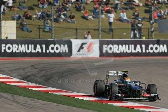 World © Octane Photographic Ltd. F1 USA GP, Austin, Texas, Circuit of the Americas (COTA), Friday 15th November 2013 - Practice 2. Sauber C32 - Esteban Gutierrez. Digital Ref : 0854lw1d4073