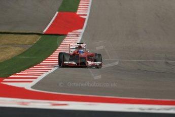 World © Octane Photographic Ltd. F1 USA GP, Austin, Texas, Circuit of the Americas (COTA), Friday 15th November 2013 - Practice 2. Scuderia Ferrari F138 - Fernando Alonso. Digital Ref : 0854lw1d4214