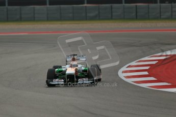 World © Octane Photographic Ltd. F1 USA GP, Austin, Texas, Circuit of the Americas (COTA), Saturday 16th November 2013 - Practice 3. Sahara Force India VJM06 - Paul di Resta. Digital Ref : 0857lw1d4850