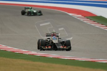 World © Octane Photographic Ltd. F1 USA GP, Austin, Texas, Circuit of the Americas (COTA), Saturday 16th November 2013 - Practice 3. Lotus F1 Team E21 - Romain Grosjean. Digital Ref : 0857lw1d5368