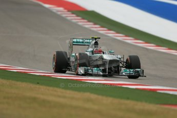 World © Octane Photographic Ltd. F1 USA GP, Austin, Texas, Circuit of the Americas (COTA), Saturday 16th November 2013 - Practice 3. Mercedes AMG Petronas F1 W04 – Lewis Hamilton. Digital Ref : 0857lw1d5404