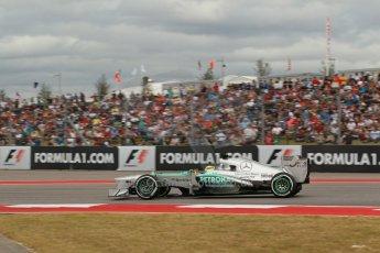 World © Octane Photographic Ltd. F1 USA GP, Austin, Texas, Circuit of the Americas (COTA), Saturday 16th November 2013 - Qualifying. Mercedes AMG Petronas F1 W04 - Nico Rosberg. Digital Ref : 0858lw1d1963