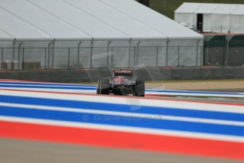 World © Octane Photographic Ltd. F1 USA GP, Austin, Texas, Circuit of the Americas (COTA), Saturday 16th November 2013 - Qualifying. Scuderia Toro Rosso STR 8 - Daniel Ricciardo. Digital Ref : 0858lw1d5535