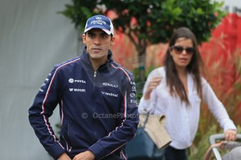 World © Octane Photographic Ltd. F1 USA GP, Austin, Texas, Circuit of the Americas (COTA), Saturday 16th November 2013 - Paddock. Williams - Pastor Maldonado and girlfriend Gabriella Tarkany. Digital Ref : 0856lw1d4616