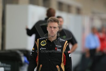 World © Octane Photographic Ltd. F1 USA GP, Austin, Texas, Circuit of the Americas (COTA), Saturday 16th November 2013 - Paddock. Lotus F1 Team 3rd driver – Davide Valsecchi. Digital Ref : 0856lw1d4637