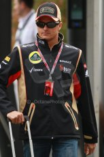 World © Octane Photographic Ltd. F1 USA GP, Austin, Texas, Circuit of the Americas (COTA), Sunday 17th November 2013 - Paddock. Lotus F1 Team – Heikki Kovalainen. Digital Ref : 0859lw1d2312