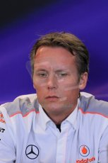 World © Octane Photographic Ltd. F1 USA GP, Austin, Texas, Circuit of the Americas (COTA), Friday 15th November 2013 – FIA Press conference. Sam Michael – Technical Director Vodafone McLaren Mercedes. Digital Ref : 0855lw1d4396