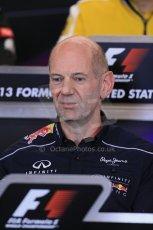 World © Octane Photographic Ltd. F1 USA GP, Austin, Texas, Circuit of the Americas (COTA), Friday 15th November 2013 – FIA Press conference. Adrian Newey – Chief Technical Officer Infiniti Red Bull Racing. Digital Ref : 0855lw1d4444