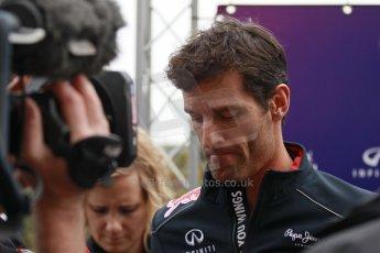 World © Octane Photographic Ltd. USA F1 Grand Prix, Austin, Texas, Circuit of the Americas (COTA). Paddock, Thursday 14th November 2013. Mark Webber – Infiniti Red Bull Racing. Digital Ref : 0852lw1d1063